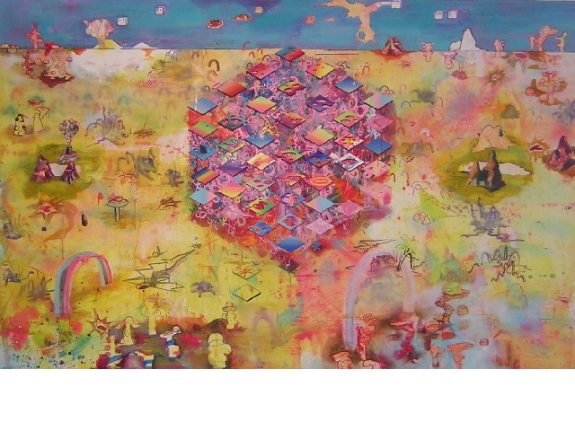 20000 suckas to the bottom of the nugget:oil on canvas:210x270cm:2005