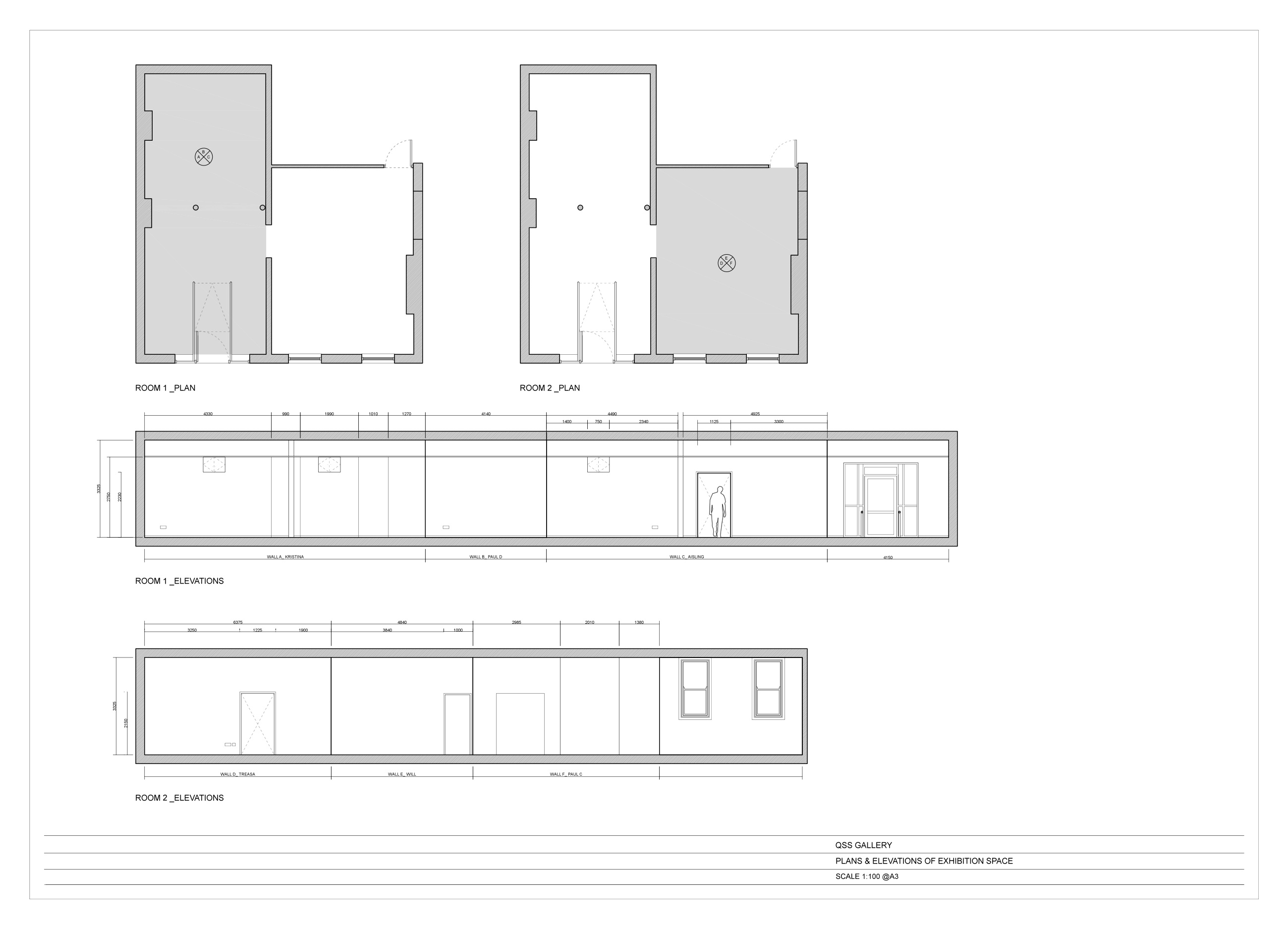 QSS GALLERY Floor Plan DWG