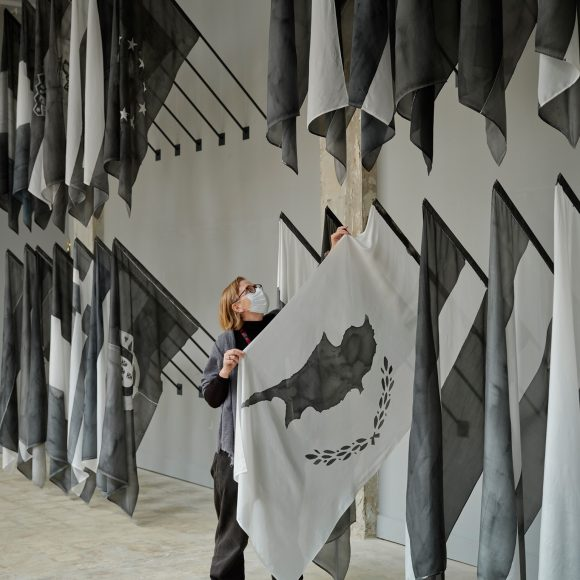 QSS artist Joy Gerrard discusses her work in Precarious Freedom: Crowds, Flags, Barriers